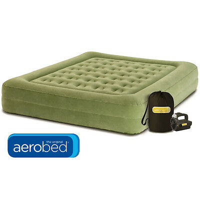 Coleman Aerobed (Queen) Raised Explorer Mattress Camping Air Bed Inflatable Pump