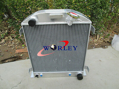 3ROW Aluminum Radiator for 1932 FORD CHOPPED CHEVY ENGINE AT 32