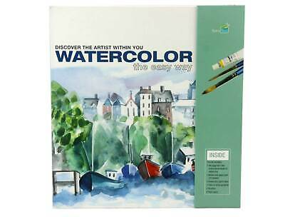 Watercolor Art & Craft Painting Kit - The Easy Way - RELAXING Therapeutic ADULT