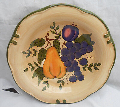 "Home Trends Granada Salad Plates 4 8 1/2"" Fruit Apple Pear Grapes Plum"