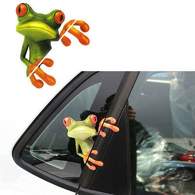 Funny 3D Peep Frog Funny Car Stickers Truck Window Decal Graphics Sticker Decals