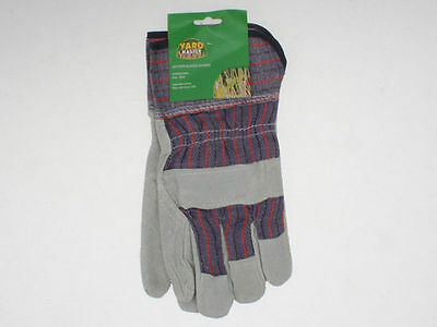 24 x Pairs Leather  & Fabric Gardening Gloves Bulk Wholesale Lot