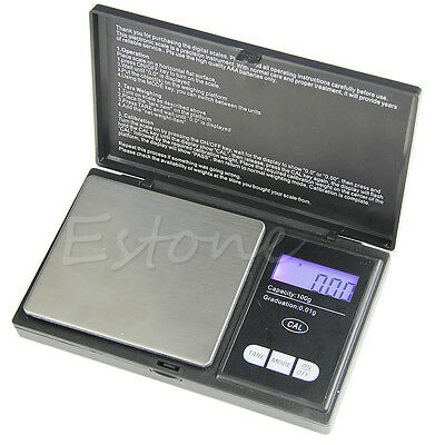 Portable 100g x 0.01g Mini Digital Scale Jewelry Pocket Balance Weight Gram LCD