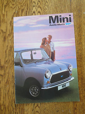 Original Mini advertising booklet - Mini HL & Mini HL Estate & Mini City