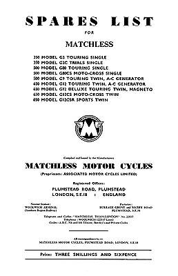 1960-1962 Matchless singles & twins parts book