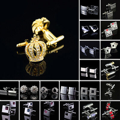 Lot Wholesale Classic Stainless Steel Cufflinks Square Men's Metal Jewelry Nice
