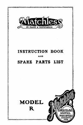 Matchless model R instructions and parts book