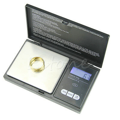 Pocket LCD Digital Precision Jewelry Gold Gram Balance Weight Scale 500g/0.1g