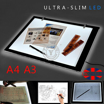 A3 A4 LED Ultra Slim Art Craft Tracing Drawing Tattoo Light Box Pad Board Lamp