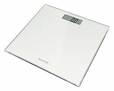 Salter Digital Bathroom Scale Toughened Glass Electronic Weight Scales White