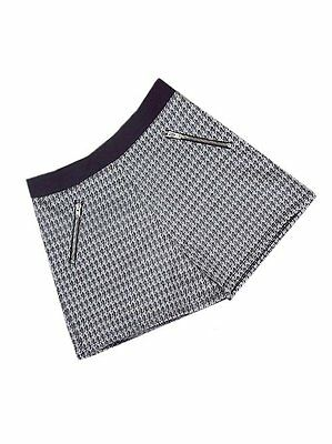 M&S Girls Dogtooth Check Black & White Print shorts Ages 7-8  LAST FEW! SALE
