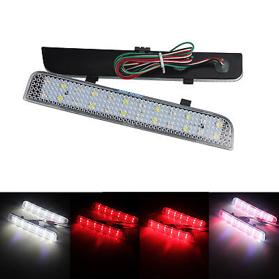 2X LED Rear Bumper Reflector Brake Stop Light Range Rover L322 Freelander 2 LR2