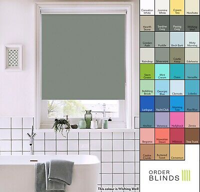 Waterproof Roller Blinds Made To Measure In 18 Colours - Bathroom, Kitchen Blind