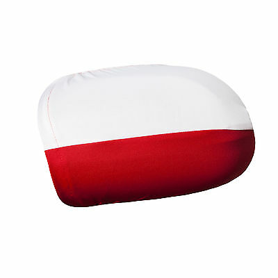 Pack of 2 Polish Car Mirror Flag Covers Wing Mirror Covers Poland