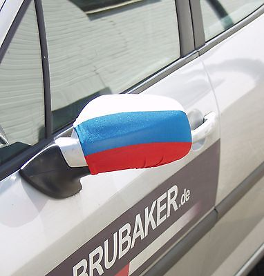 Pack of 2 Russian Car Mirror Flag Covers Wing Mirror Covers Russia