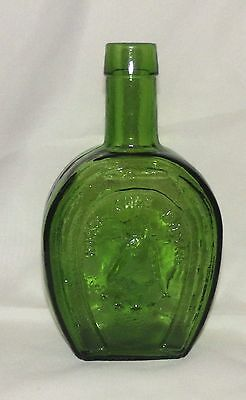 Vintage Green Wheaton Glass Horse Shoe Bitters Horseshoe  Shape Bottle