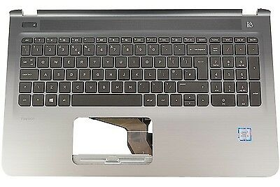 New HP Pavilion 15-AB Palm Rest Cover UK Keyboard 809031-031814213-031