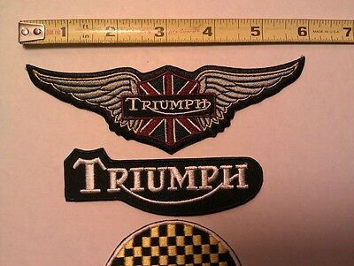 3 Triumph Embroidered Patch's
