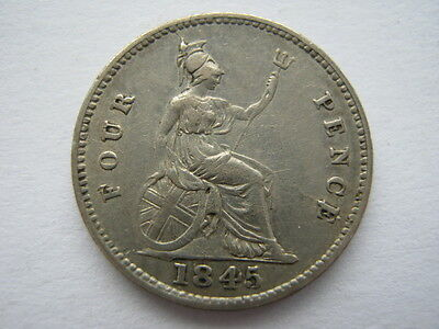 1845 Groat or Fourpence VF