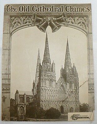 """Sheet Music """" Old Cathedral Chimes """" Copyright 1907"""