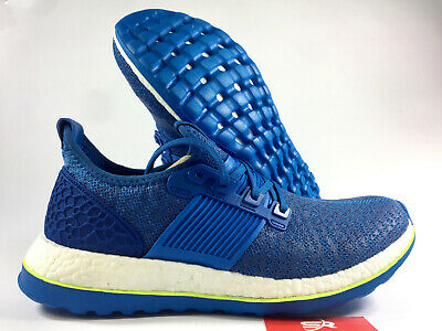NEW 9.5 ADIDAS Pure Boost ZG Running Shoes AQ2929 Blue White