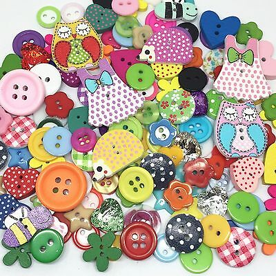 150 Quality Wooden Resin Random Mix Buttons Craft Scrapbooking Sewing Cardmaking