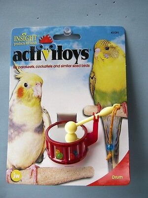 JW's Insight Activitoys Drum for Cockatiels