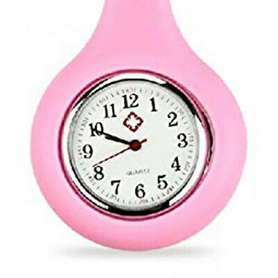 FP SILICONE GEL Nurses Fob Watch (Washable, Infection Free)Pink
