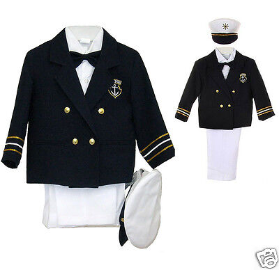 New Baby Boy & Toddler Easter Formal Party Sailor Suit Outfits 0M to 7 Years Old