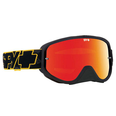 Spy NEW Woot Race Yellow Highlighter Black Spectra Red Tinted Motocross Goggles