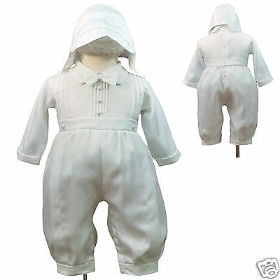 E41 White Rompers 4 Baby Toddler & Boy Church Christening Baptism  size: 0M-30M