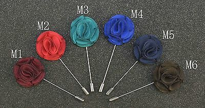 Buy 2 get 1 free quality mens suit brooch pin lapel flower wedding party