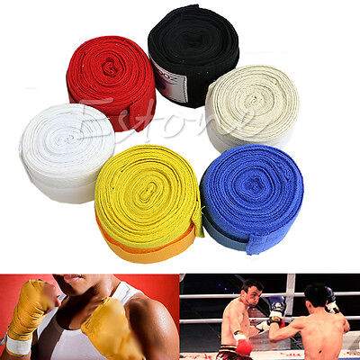 Cotton Blend Protect Boxing Hand Wraps Boxing Bandages Wrist Fist Punching 1Pair