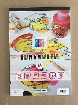 Art Spectrum Draw & Wash Pad A4 125gsm Smooth