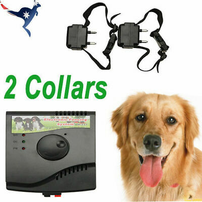 Dogs Electronic Hidden Waterproof Fence System 2 Collars