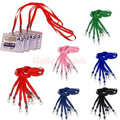 Lot of 10Pcs NECK Flat LANYARD ID BADGES Strap Holder String With Metal Clasp