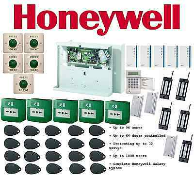 Honeywell Galaxy Dimension 96 Complete Security System, Fire Safety Entry Point