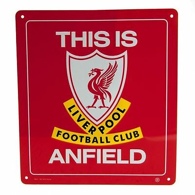 LIVERPOOL FC  Metal Sign THIS IS ANFIELD  Official Merchandise  FREE (UK)P+P