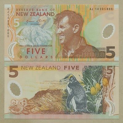 NEW ZEALAND - Polymer $5 2014  P185c  Uncirculated  ( Banknotes )