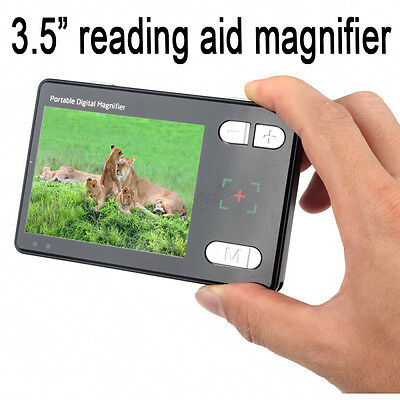 "3.5"" Color Screen Portable Low Vision Reading Aid 24x Electronic Video Magnifier"