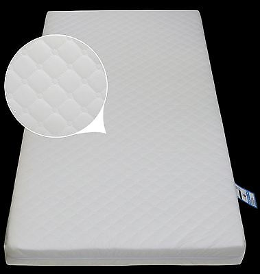 Junior Bed Foam MATTRESS 160 x 70 x 10 Quilted Breathable Zip Cover