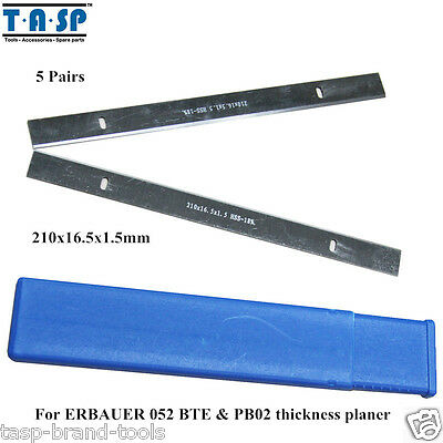 """10PC 8"""" Thickness Planer Blade For ERBAUER 052 BTE & PB02, 210mm of HSS"""