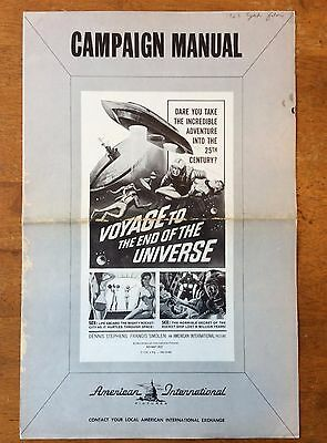 VOYAGE TO THE END OF THE UNIVERSE original AIP PRESSBOOK 1963 Sci-Fi