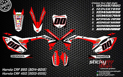 CRF250 CRF 450 13-15 CRF graphics CRF 450 decals MX graphics kit 2013 CRF 2014
