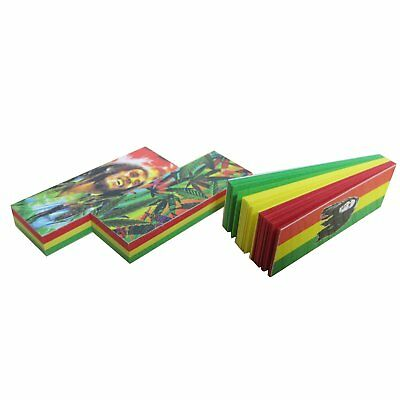 3x Booklets Red Yellow Green Rolling Papers Special Filter Tips 144 Leaves