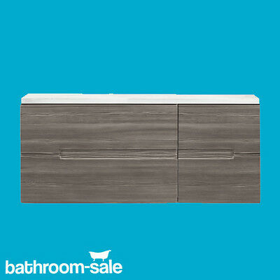 Vermont 400 Grey Avola Wall Hung Vanity Unit ONLY COMPLETE RRP £199 GENUINE NEW