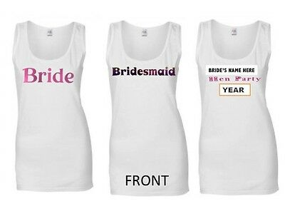 Personalised Hen Party  Vest T-Shirt