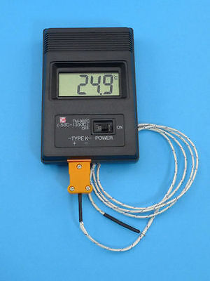 Black Type K Digital Thermometer TM-902C +Thermocouple Probe -50℃ to 1300℃