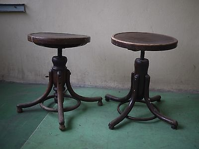 vintage thonet  kitchen piano stool