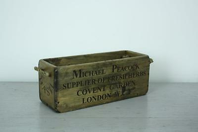 Vintage Wooden Crate Trug Box Industrial Planter Rh7 Basil Covent Garden